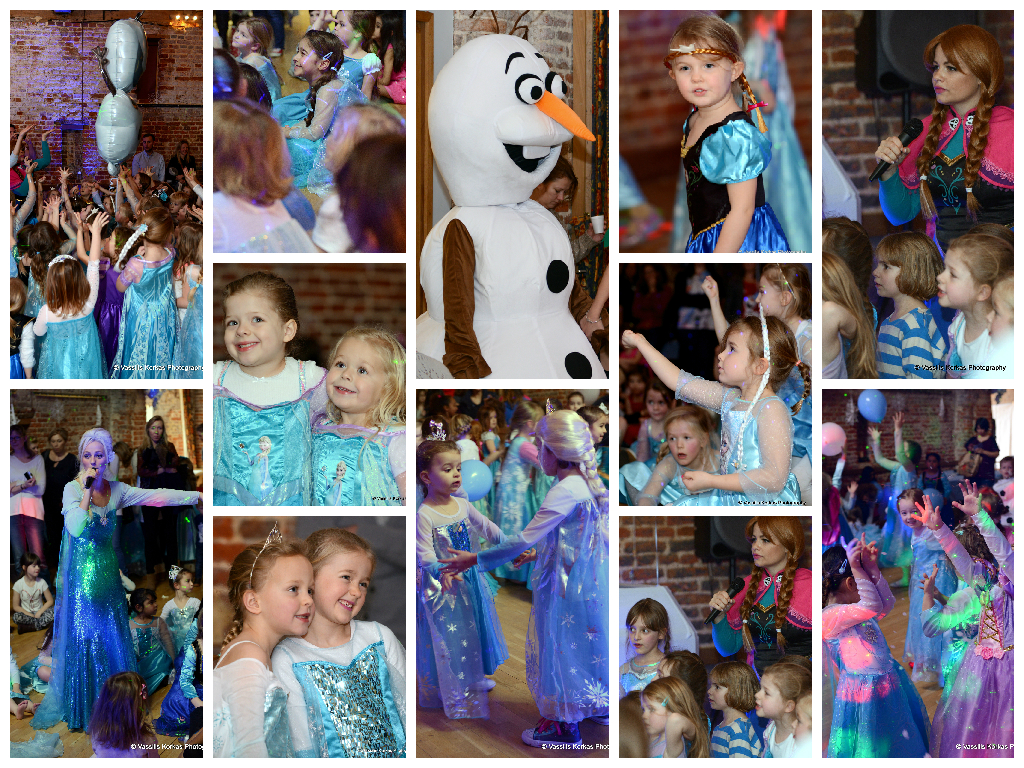 Frozen Xmas Ball Collage